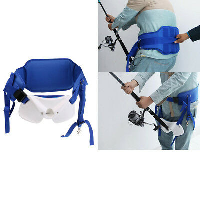 Fishing Waist Support Harness Rod Holder Stand Up Adjustable Fighting Belt • 46.96£