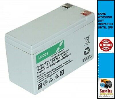 12V 7ah Replacement LUCAS Rechargeable AGM Battery For Waverunner ATOM • 15.95£
