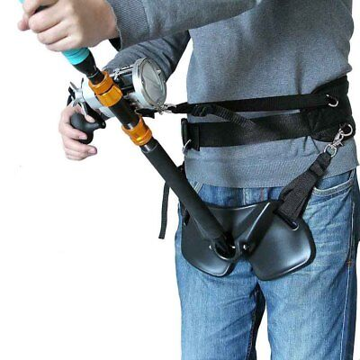 Fishing Rod Holder Harness Adjustable Fighting Waist Support Belt 37-51inch • 40.32£
