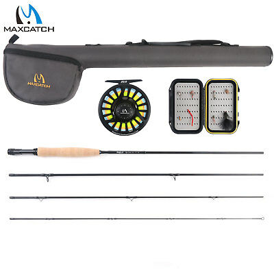 Maxcatch 5/6wt Fly Fishing Combo,9' 4-piece Rod And Avid Pre-spooled Reel Outfit • 122.50£