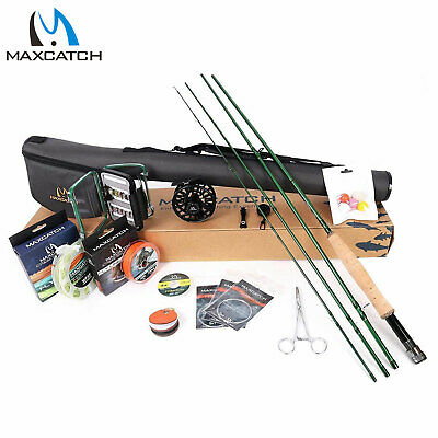 Maxcatch Premier Fly Fishing Rod Reel Combo Complete 9' Fishing Outfit Kits • 124.79£