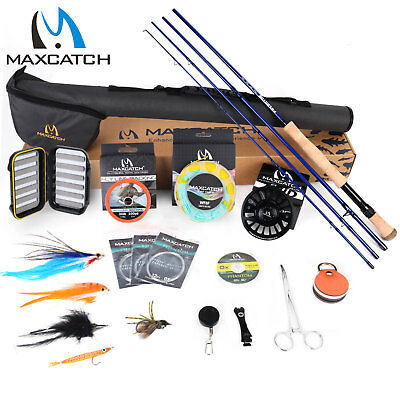 Maxcatch Saltwater Fly Rod And Reel Combo Full Kit 9FT Fishing Complete Outfit • 141.55£
