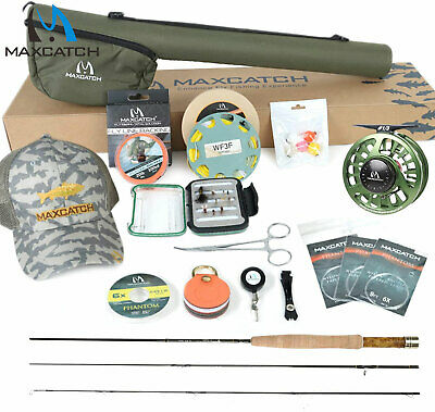 Maxcatch Fly Rod And Reel Outfit/Combo Complete Full Kit For Small Stream  • 140£