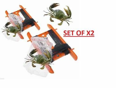 Large X2 NET 11m CRAB FISHING LINE WITH BAIT BAG LINE STARTERS KIT ALL YOU NEED • 2.99£