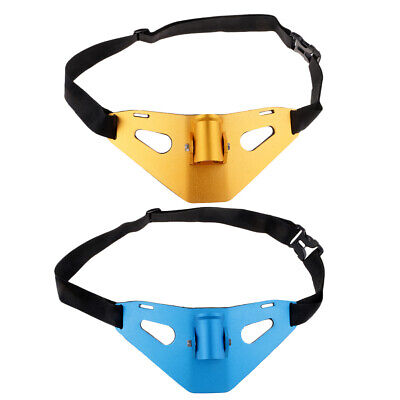 2PCS Waist Belt Solid Fishing Fighting Golden Rod Holder With Pad • 44.88£