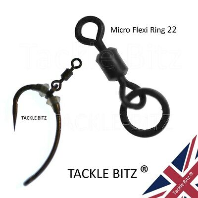 Fishing Tackle Size 22 Micro Hook Flexi Ring Swivels For Carp Ronnie Chod Rigs  • 3.79£