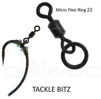 Fishing Tackle Size 22 Micro Hook Flexi Ring Swivels For Carp Ronnie Chod Rigs  • 2.10£