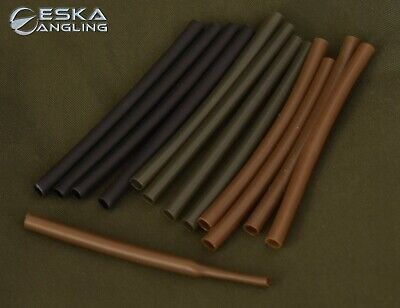 Heat Shrink Tube Green, Brown, Black 10 Pcs Various Sizes Carp Fishing Tackle • 2.10£