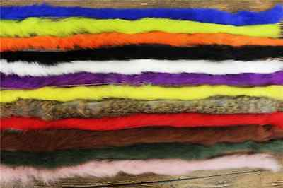 12 Inch Long Length Of Rabbit Fur/ Zonker Strips For Fly Tying-choice Of Colour • 1.95£