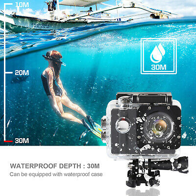 1080P WiFi Wide Angle 4K Waterproof Motion Action Sports Camera Camcorder UK • 45.38£