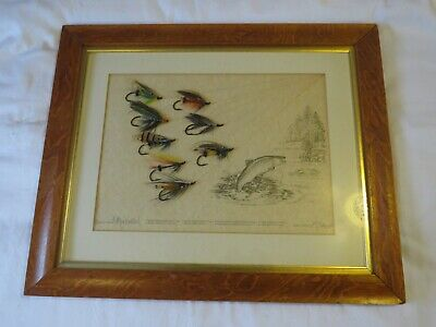 Salmon Fly Display  Signed Ltd Edition  33/100 Anthony Townsend / K.c. Hunt  • 169£