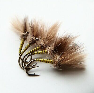 CDC Yellow Owl Suspender Buzzers Size 12 (Set Of 3)  Fly Fishing Flies  • 3.99£