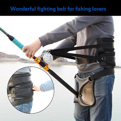 High Quality Waist Rod Holder With Fishing Harness Fighting Belt Boat Fish Y9N6 • 37.24£