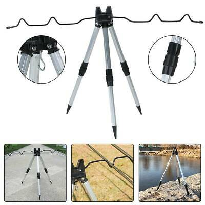 Outdoor Sea Beach Telescopic Fishing Rod Rests Tripod Stand Holder Adjustable • 17.99£