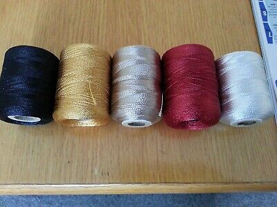 75mtrs.  RAYON  Whipping Thread. .various Colours. • 3.65£