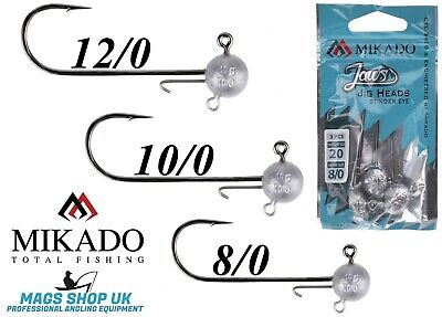 Mikado, Bkk ''jaws'' Stinger Eye Jig Heads, Size - 8/0,10/0,12/0, Black Nickel • 5.99£