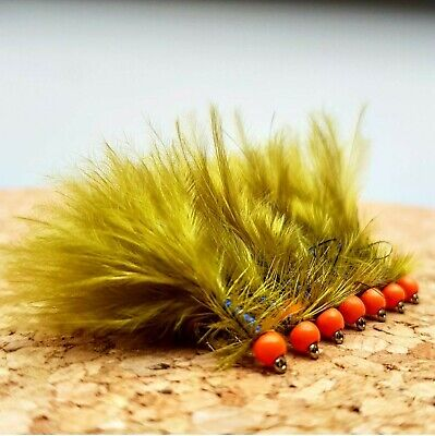Hothead Blue Flash Damsel Lures Size 10 (Set Of 3) Fly Fishing Flies • 3.75£
