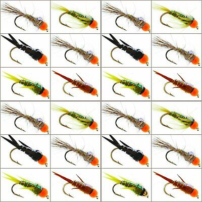 Trout Fishing Flies Flys X 24 GOLD HEADED Trout Flies For Trout Fly Fishing UK • 7.94£