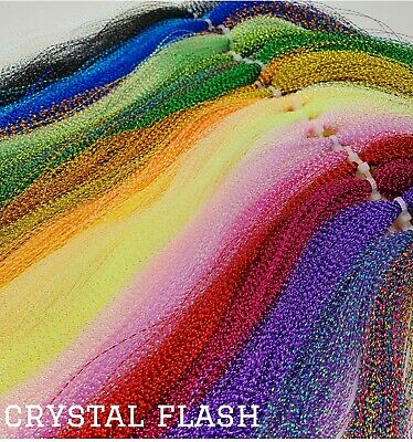 Crystal Flash  - Choice Of Colour - Fly Tying Materials - Tinsel - Saltwater • 2.99£