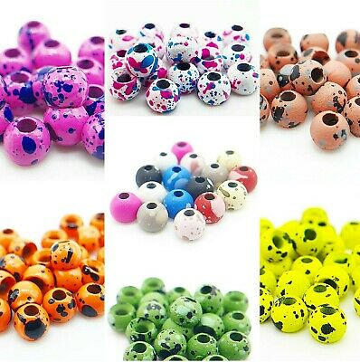 Tungsten Beads - Choice Of Colour - Fly Tying Materials - Speckled - Matt • 4£