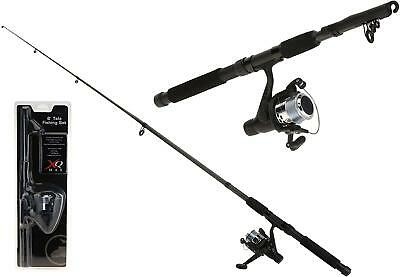 Xq Max Fishing Rod Extendable 180 Cm Black Rod & Reel Fishing Set • 18.89£
