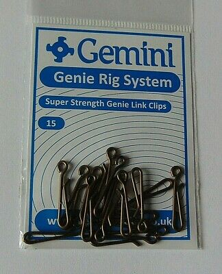 Gemini Super Strength Genie Link Clips 15 Pp Sea Fishing Tackle • 2.95£