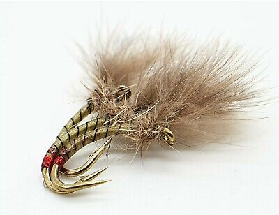 Brown 3 Rainbow /& Sea Trout Fly Fishing 6 or 12x Teal Blue /& Silver Wet Flies