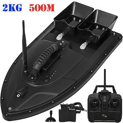500M Wireless RC Fishing Bait Boat With 2 Motors Fish Finder Single Hand Control • 99.99£