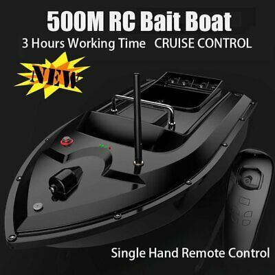 500M Single Hand Control Wireless RC Fishing Bait Boat With 2 Motors Fish Finder • 82.89£