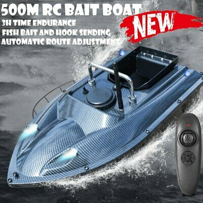 New RC Fishing Bait Boat 2 Motors Fish Finder 500M Wireless Single Hand Control • 83.99£