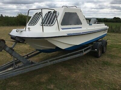 Fishing Boat Seahog 18 Fast Fisher With 60hp Outboard And Project Trailer. • 4,950£
