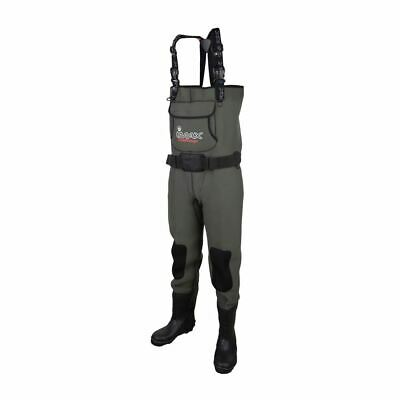 Imax Challenge Chest Neoprene Waders Cleated Sole With Studs • 84.99£