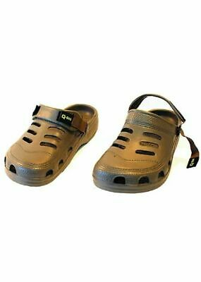 Q-DOS Bivvy Slippers Adjustable Strap Cloggs Sizes 8-11 • 12.75£