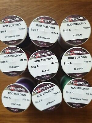 Clearance Box Of 9 Spools Textreme Rod Building Whipping Thread Fly Thread100m  • 15.99£