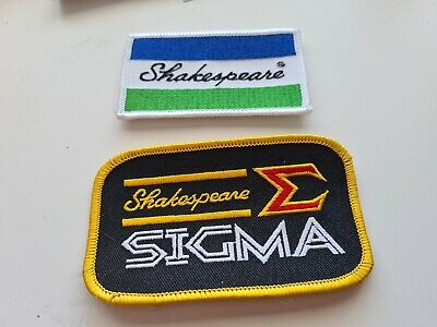 2 Shakespeare Fishing Patches. • 2£