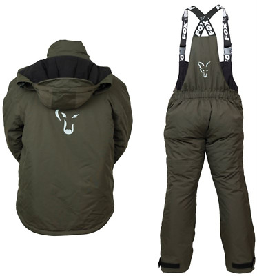 Fox Winter Carp Suit Green / Silver New All Sizes • 169.99£