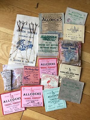 Collection Of Vintage Allcock Hook Packets. • 19.99£