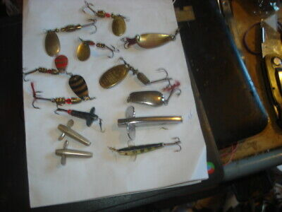 11 Vintage Spoon Lures,Mepps,Invicta,Delta,Wob-l-ite And Minnowx  • 2.99£