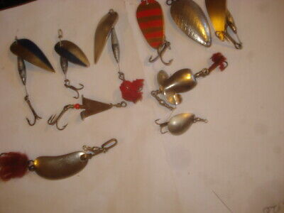 10  Vintage Spoon Lures, Spinners And Wobblers See Photos • 2.99£