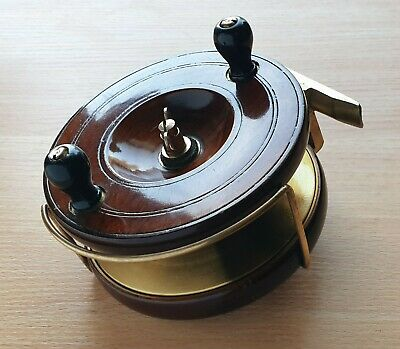 Superb Large 5  Vintage Smith & Wall High Quality Star Back Walnut Wooden Reel • 90£