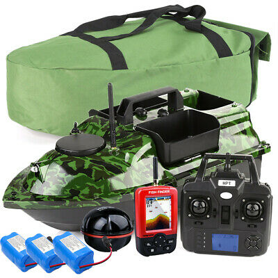 GPS Fishing Bait Boat With 3 Hoppers,GPS Sonar Sensor Fishfinders,Bag,Batteries • 229.99£