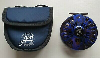Abel Super 12 Big Game / Spey Reel Blue Smoke W Pouch & Backing (Mint Condition) • 275£