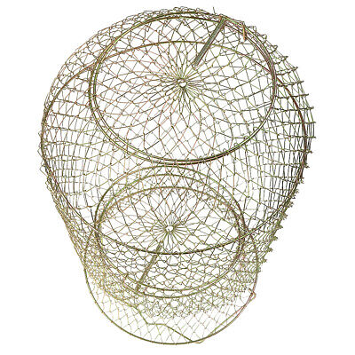 1pcs Durable Foldable Collapsible Steel Wire Foldable Fish Cage Fishing Keep Net • 12.69£