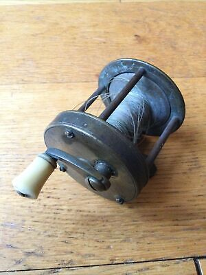 A  Vintage Brass Multiplier Winch Reel. • 49.99£