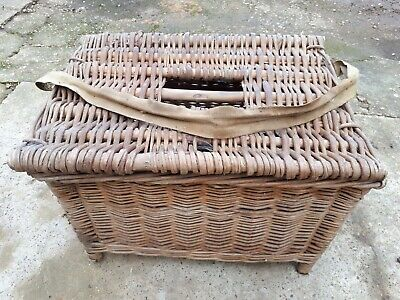 Vintage FISHING BASKET Logs-storage • 55£