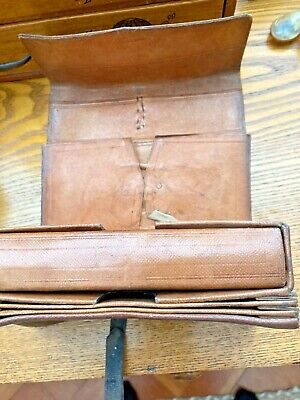 Antique Vintage Leather Fly Fishing Wallet • 81£