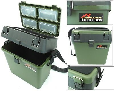 Fishing Seat Box Tackle Box Padded Strap & Seat Pad RODDARCH TOUGH BOX Original • 21.99£