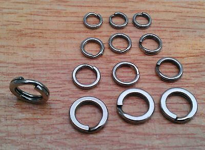 Super Heavy Duty Stainless Steel  Split Rings Sea Fishing Pirks And Lures   • 10.30£