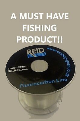 *100% Fluorocarbon Fishing Line - Feared By Fish - All Sizes (TOP SELLER!!) • 8.99£