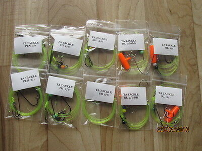 10x 2/0 Mixed Sea Fishing Rigs Good For Cod,bass, Flatties Etc  • 9.95£